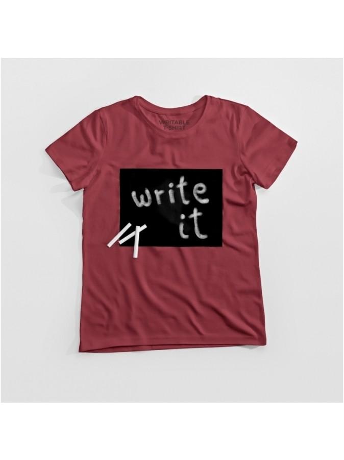 Užrašomi marškinėliai vyrams. March Design