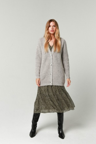 Robi agnes. CARDIGAN 'ELIZA' light grey