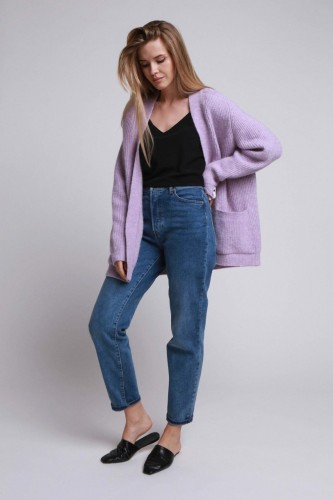 ROBI AGNES. Kate cardigan light violet